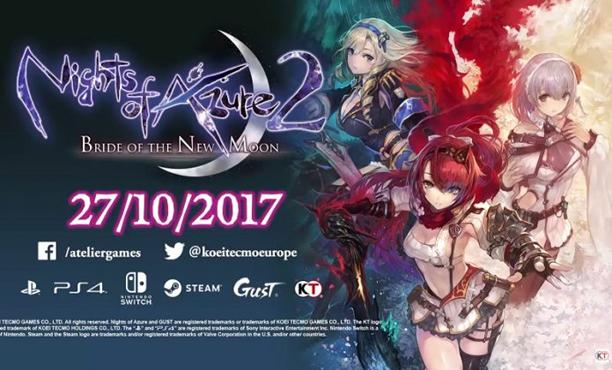 Nights of Azure 2 ประกาศลง Steam ตุลาคม 2017