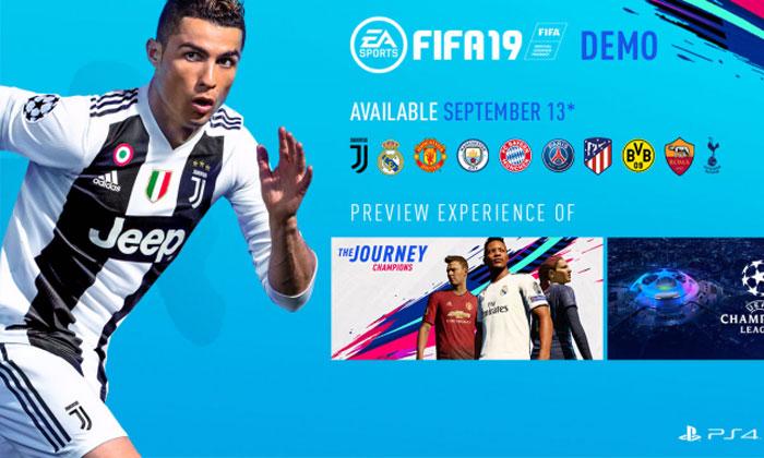 FIFA 19 ปล่อย Demo ให้ชาว PS4 และ XB1 ลองเล่น 13 กันยายนนี้