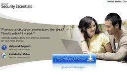 ไมโครซอฟท์เปิดให้ผู้ใช้งานดาวน์โหลดโปรแกรมป้องกันไวรัส Microsoft Security Essentials