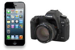 ประชันความคมชัดของกล้อง iPhone 5 vs Canon 5D Mark III