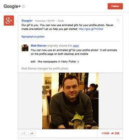 Google+ จัดให้รูปโปรไฟล์ขยับได้