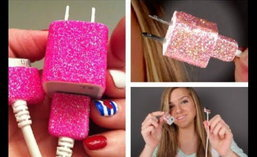 DIY:Glitter Phone Charger
