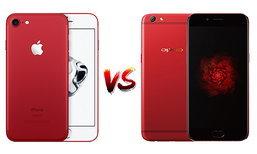 เทียบ iPhone 7 (Product)RED และ OPPO R9s Red Edition สองสมาร์ทโฟนสีแดงที่ร้อนแรงที่สุด