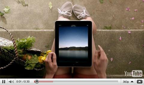 โฆษณาชุดใหม่ของ iPad คล้าย Newton