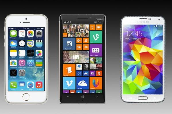 เปรียบเทียบสเปค Nokia Lumia 930 vs Samsung Galaxy S5 vs iPhone 5S