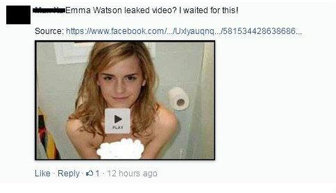 ระวัง!!!สแปมไวรัสใหม่ โพสเชิญชวนดูวิดีโอหลุด Emma Watson บน Facebook