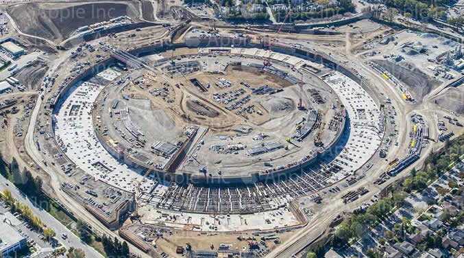 ภาพอัพเดทการก่อสร้างสำนักงานใหญ่แห่งใหม่ของ Apple