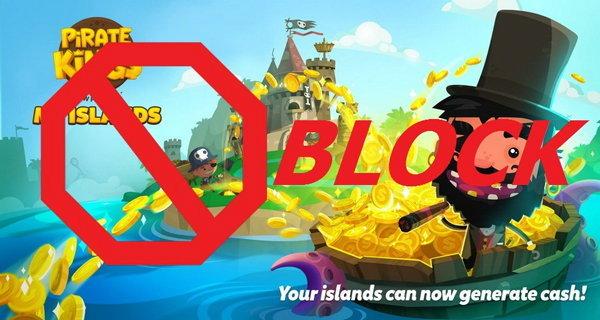 วิธีบล็อกเกม Pirate King บน Facebook ง่ายๆ ใน 3 ขั้นตอน