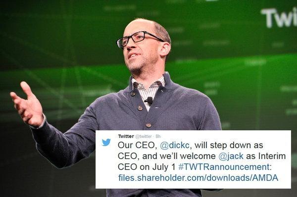Dick Costolo CEO ของ Twitter ลาออกแล้ว
