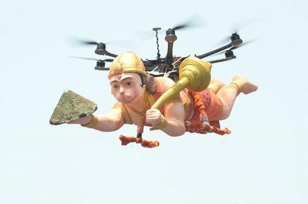 ไม่เชื่อก็ต้องเชื่อ หนุมาน บินได้ เพราะหุ่น Drone