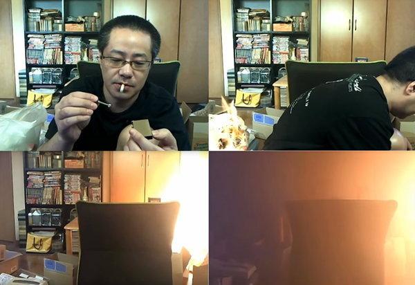 อุทาหรณ์ถ่ายทอดสดจาก YouTube จะดูดบุหรี่ในห้อง ควรระวัง !!
