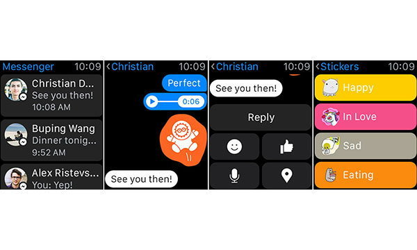 รู้ยัง Facebook Messenger สามารถใช้งานบน Apple Watch ได้แล้ววันนี้