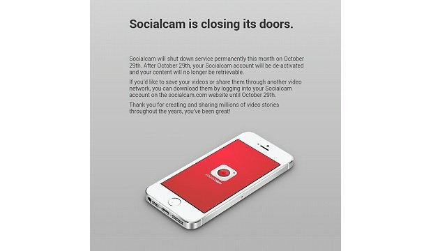 ลาก่อน Socialcam เตรียมปิดให้บริการ 29 ตุลาคมนี้
