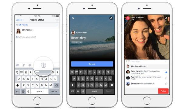 สวัสดีชาว Facebook… Facebook เริ่มเปิดทดสอบให้คนทั่วไปสามารถถ่ายทอดสดผ่านวิดีโอ (ในอเมริกา)