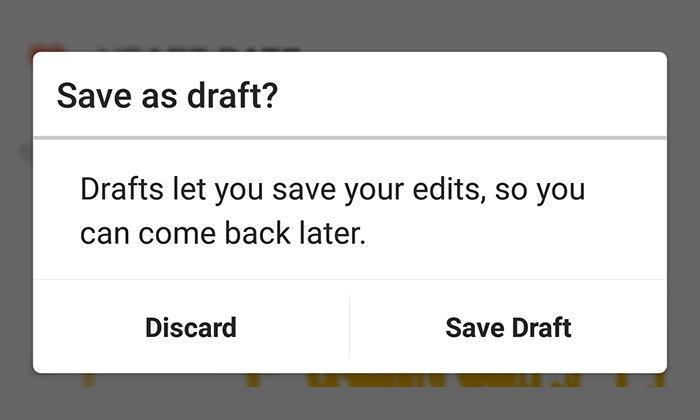 Instagram เพิ่มฟีเจอร์ Save Draft เพื่อให้กลับไปแก้ไขภาพก่อน Post ได้