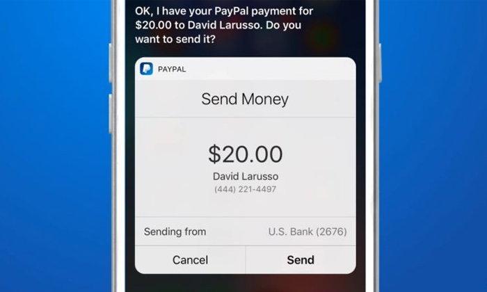 PayPal อัปเดท Apps รองรับการทำธุรกรรมผ่าน Siri ได้แล้ว