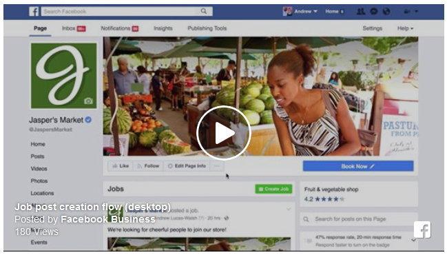 เฟซบุ๊กเพิ่มฟีเจอร์โพสต์ตำแหน่งงาน พร้อมรับใบสมัครได้ในเพจธุรกิจ