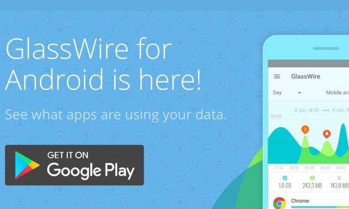 GlassWire โปรแกรมแสดงการใช้งาน Data ของมือถือ Android ที่คนใช้มือถือ Android ควรโหลด
