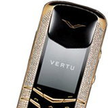 Vertu Signature Yellow Gold Pave Diamonds