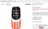 พบ 'Nokia 3310 ที่รองรับ 3G' วางขายออนไลน์ในสวีเดน ต้นสังกัดแจง 'ข้อมูลผิด'