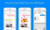 Facebook Messenger เพิ่มฟีเจอร์ emoji แสดงปฏิกิริยา และ สามารถ Mention ถึงเพื่อนได้