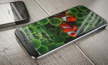 ภาพคอนเซปท์ iPhone X (iPhone 8) ด้วยแรงบันดาลใจด้านดีไซน์จาก iPhone รุ่นแรก บนหน้าจอแบบไร้ขอบ
