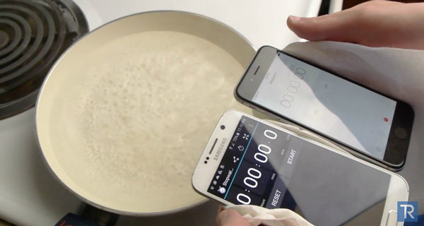 จะเกิดอะไรขึ้น? เมื่อ Samsung Galaxy S6 และ iPhone 6 ถูกนำไปต้มในน้ำเดือด