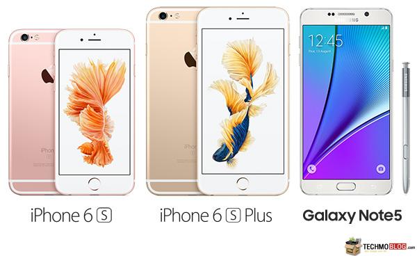 เทียบให้เห็น Galaxy Note 5 vs iPhone 6S vs iPhone 6S Plus ซื้อรุ่นไหนดี? (ที่สุด)