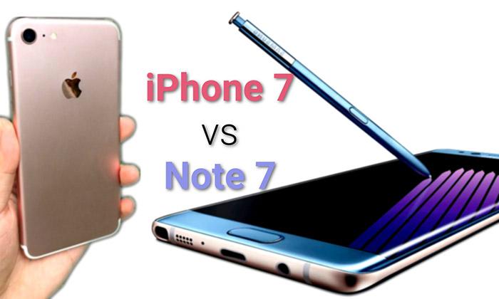 สื่อนอกแรงจับ Samsung Galaxy Note 7 ชน iPhone 7 แบบยังไม่ได้เปิดตัว