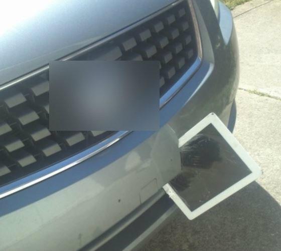 iPad ลึกลับบางเฉียบว่อนเสียบกันชนรถ