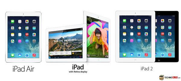 เปรียบเทียบสเปค iPad Air (iPad 5) vs iPad 4 vs iPad 2 พัฒนาขึ้นอย่างไรบ้าง ?
