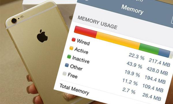 เรื่องน่ารู้ที่ Apple ไม่ได้บอก  iPhone 6 และ 6 Plus มี Ram แค่ 1 GB