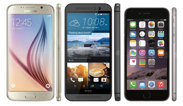ผลทดสอบ Benchmark ระหว่าง Samsung Galaxy S6 vs HTC One M9 vs iPhone 6 มาแล้ว!