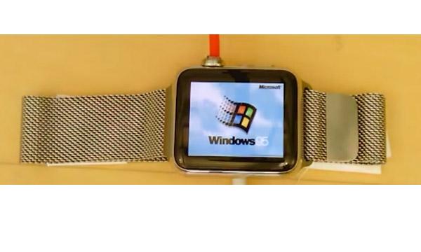 ลองไหม เมื่อ Apple Watch ลง Windows 95 ได้