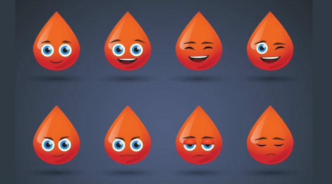 หลากอารมณ์ของคนแต่ละกรุ๊ปเลือด
