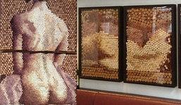 ศิลปะภาพนู้ด จากไม้คอร์ก