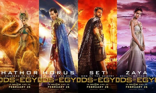 """เปิดตัวมหาเทพแห่งอียิปต์! 6 คาแรคเตอร์ """"Gods of Egypt"""""""