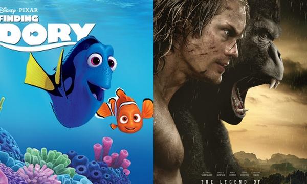The Legend of Tarzan เปิดตัวไม่ปัง Finding Dory ยังครองแชมป์อันดับ 1 ต่อเนื่อง