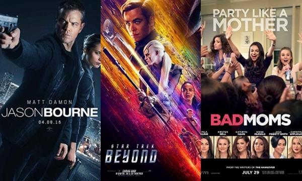 Jason Bourne เปิดตัวแรงเขี่ย Star Trek Beyond หล่นแชมป์ Bad Moms เปิดตัวเซอรไพรส์!
