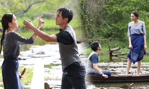โป๊ป-เดียร์น่า เปียกปอน โดดน้ำแข่งกันเก็บสายบัวในบึง
