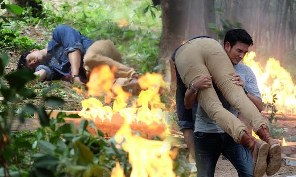 เกรท โชว์แมน ฝ่าระเบิดช่วย โย่ง ถูกไฟคลอก
