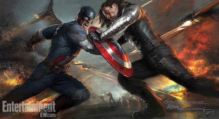 ภาพงานออกแบบตัวใหม่ของ Captain America: The Winter Soldier