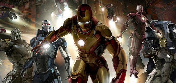 ภาพงานออกแบบ Iron Man 3 & The Avengers