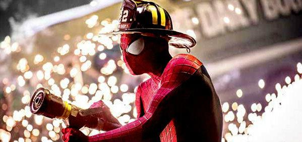 สไปเดอร์แมนเป็นพนักงานดับเพลิงในภาพชุดใหม่ The Amazing Spider-Man 2