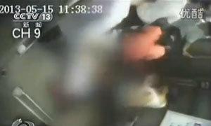 คลิปเหตุการณ์ ลิฟท์ประเทศจีน หนีบพยาบาล จนหัวขาด ตายคาที่