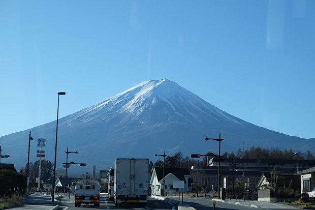 ระหว่างเดินทางไปภูเขาไฟฟูจิ