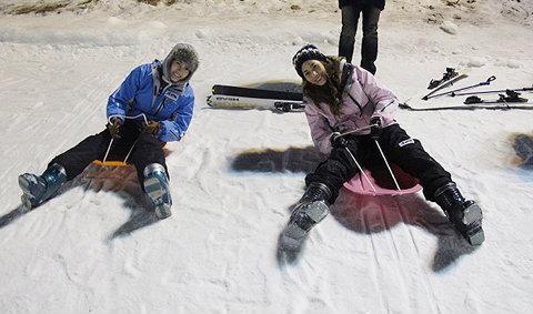 'แพง - มากี้' เริงร่า ท้าหนาว ที่เกาหลี