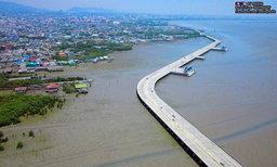 ข่าวดี..ของคนใช้รถ เปิดแล้ว! สะพานเลียบชายหาดชลบุรี