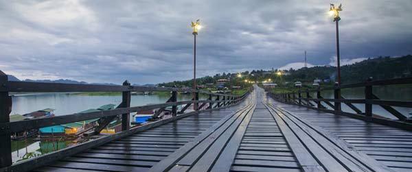 เปิดแล้ว! สะพานมอญใหม่ อ. สังขละบุรี กาญจนบุรี