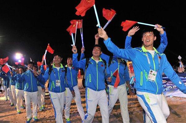 เที่ยวภูเก็ต ชมพิธีการแข่งขันกีฬาเอเชี่ยนบีชเกมส์ ครั้งที่ 4